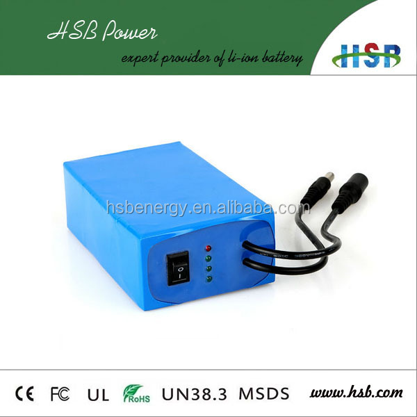 OEM lithium ion battery pack 12v 4Ah super rechargeable battery 12V output DC lithium battey for CCTV