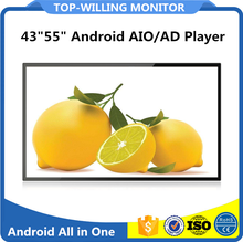 "Android 6.0 Wall Mounted 43""55"" Advertising Screens for AD"