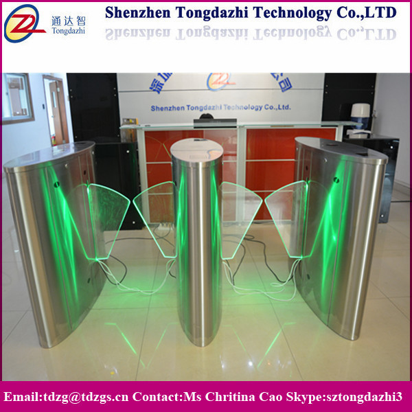 Bidirectional entrance flap gate security RFID flap barrier for bank entrance