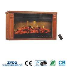 Antique TV Stand Electric Fireplace, Elegant Remote Control Realistic Flame Effect Fireplace