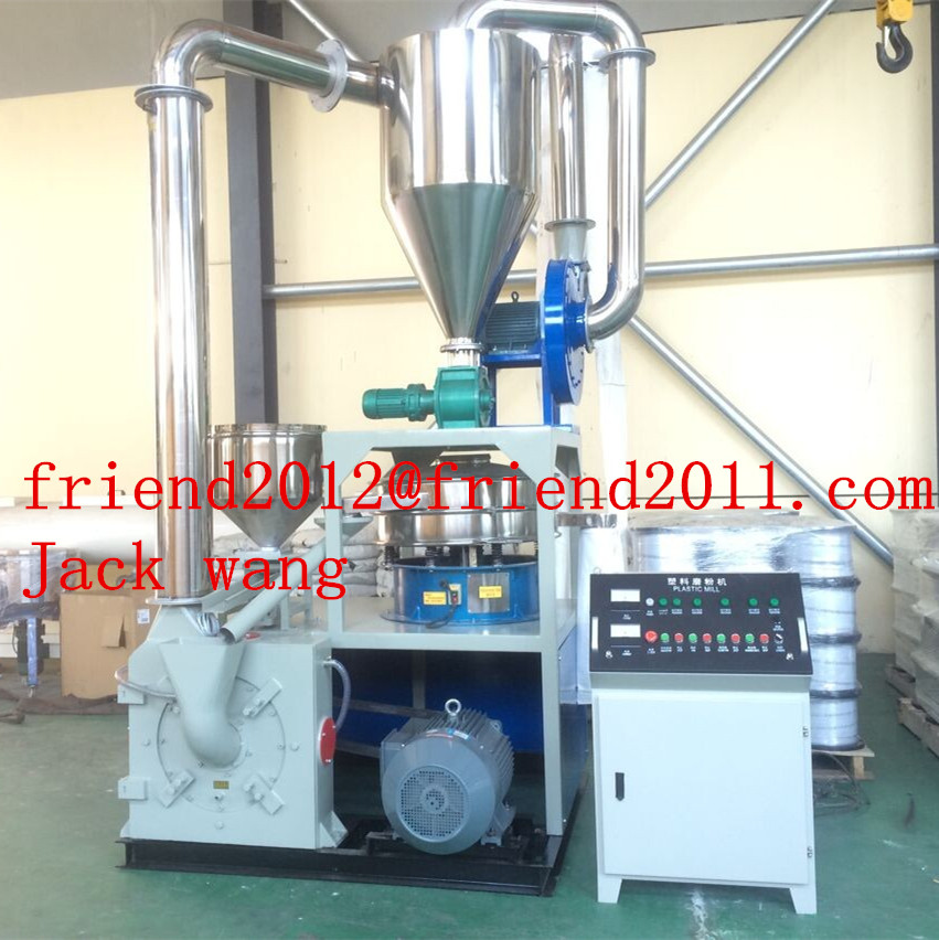 PVC PP PE grinding machine for plastic waste recycling