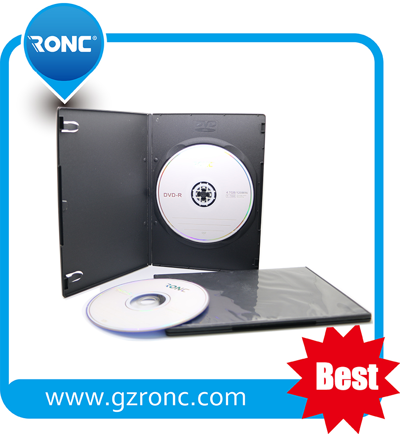 Eco-friendly single/double sided dvd 7mm cases