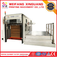 XMB-1100 cigarette packing boxes semi automatic die cutting machine manufacturer