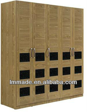 hot design wooden sliding door wardrobe armoire(205106)