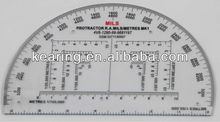 KEARING, 6IN RA PROTRACTOR,MILITARY MAP PROTRACTOR, #KMP-1