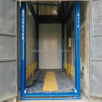 hydraulic 4 posts cargo elevator goods lift for warehouse
