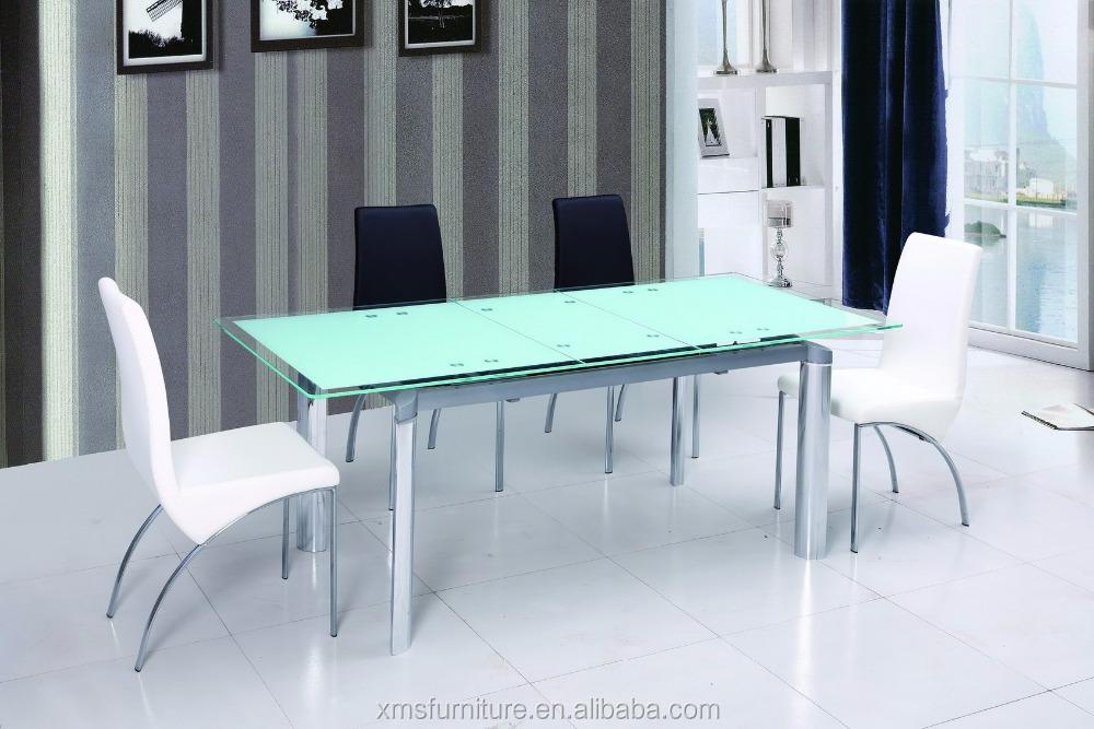 clear Tempered Glass Dining Table Rectangular Glass Top Dining Tables DT-806