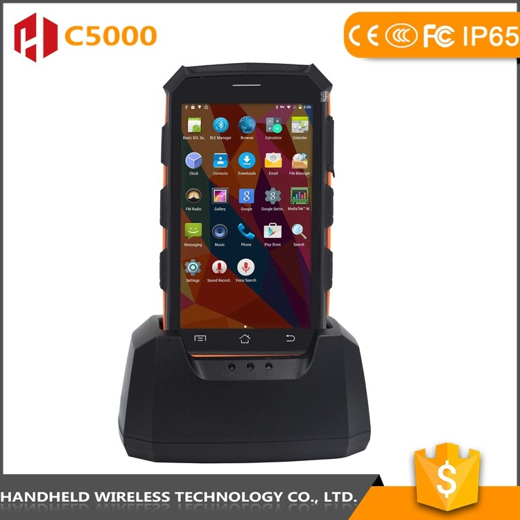 C5000 rugged IP 65 Android 5.1 portable mobile data terminal with barcode reader and rfid reader