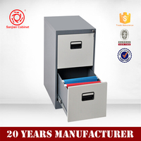 Luoyang small packing metal kd steel double drawer cabinets