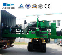 PP PE film recycling pelletizing extruder line/machine