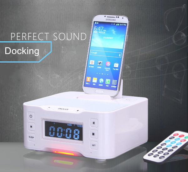docking station alarm clock radio nfc hotel desk bluetooth speaker with lcd screen buy hotel. Black Bedroom Furniture Sets. Home Design Ideas