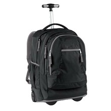 simple design black men laptop computer bags with wheels