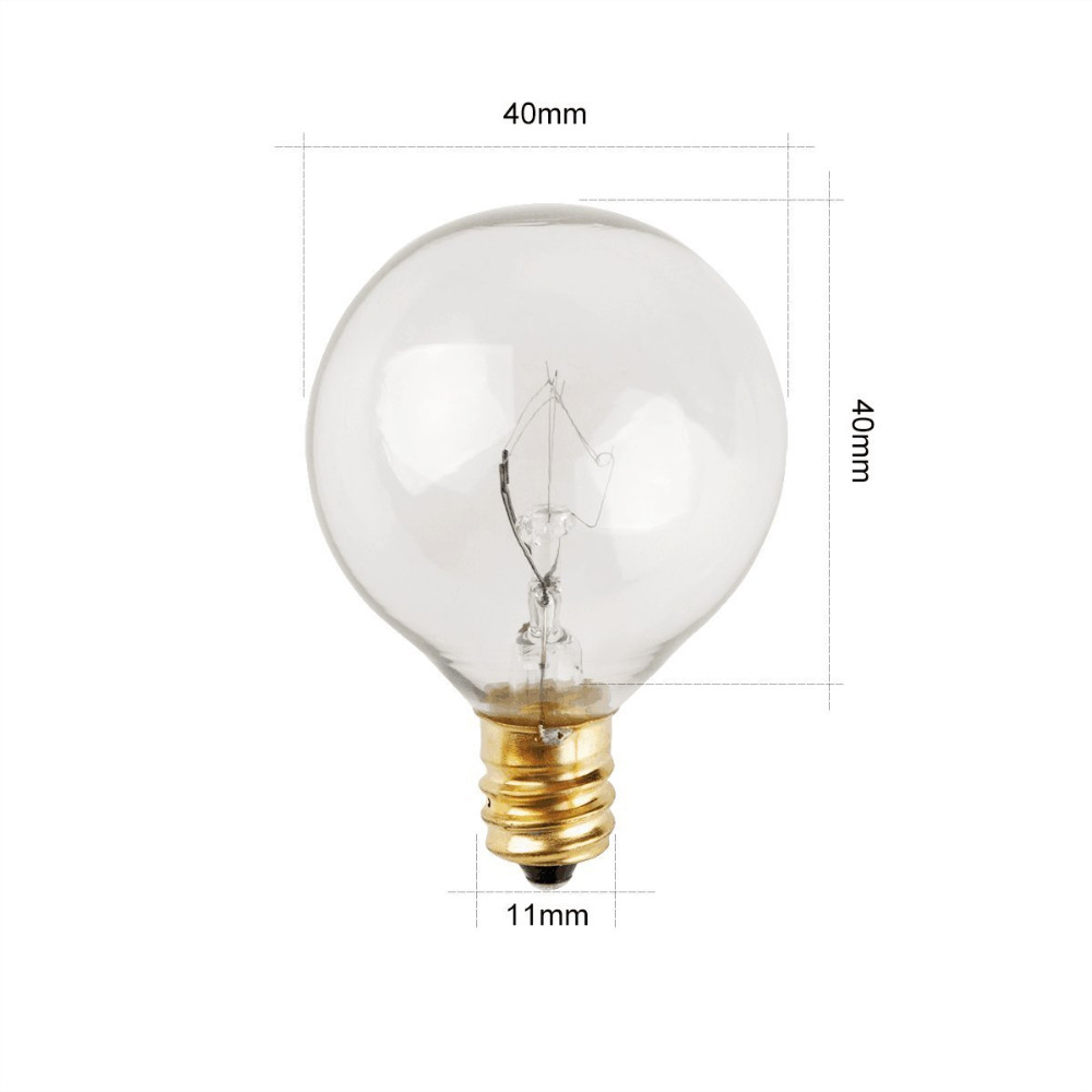 25ft G40 Clear Globe Bulbs Patio String Lights with 25 G40 Bulbs Perfect for Patio, Cafe, Garden, Festoon Party Decoration