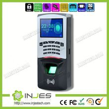 INJES 2.8inch LCD Screen time attendance door fingerprint security access control