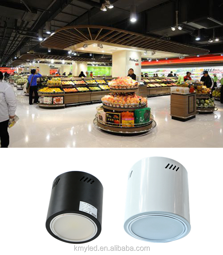 Black /white /grey finished Cylinder round spot light 40W 50W 60W 80W 100W 120W 150W surface mounted led downlight