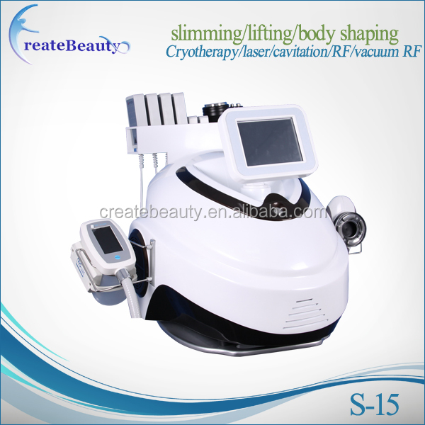 2017 beauty salon use Cryo + lipolaser + cavitation + rf + vela for fat lost