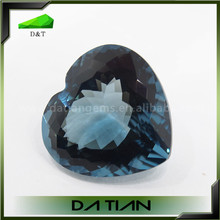 Wholesale high quality magic topaz,synthetic blue topaz