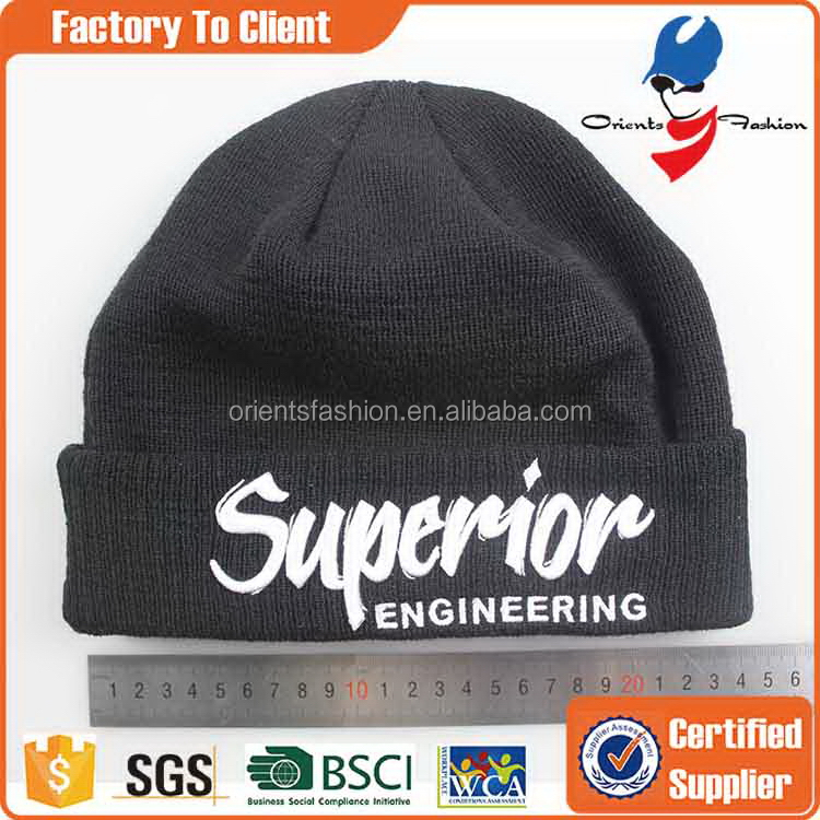 Top quality OEM skate knit knitted beanie hat