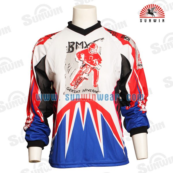 Wholesale Custom Team Racing Jersey Sublimated Sports Motorcycle&Auto Jersey