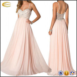 OEM wholesale Bride Graceful A-Line Empire Spaghetti Straps maternity long prom dresses bridal gown
