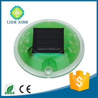 road safety traffic warning plastic round solar road stud