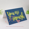 Many Colors Simple Handmade Gold Hot Foil Amazing Two Fold Greeting Cards Design