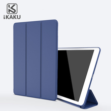 KAKU 10' tri-fold cover anti-shock magnetic flap pu leather tablet pc case for ipad mini1/2/3 air2