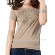 2013 korea custom cheap plain style t-shirts lady fashion