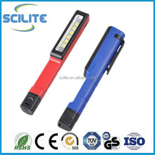 Portable Magnetic Pen Clip SMD Work light 6 LED SMD Pen light with 3xAAA batteries