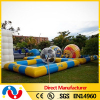 2015 Outdoor Rectangular Frame PVC plastic inflatable swimming pool for family