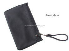 New Custom Men's Wallet Bag Black Business Clutch Bag PU Purse Handbag Totes