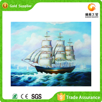 Fully stocked new style wall decoration diamond painting mosaic kit sailing boat