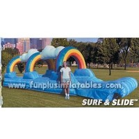 inflatable slide floating on the waters F4127