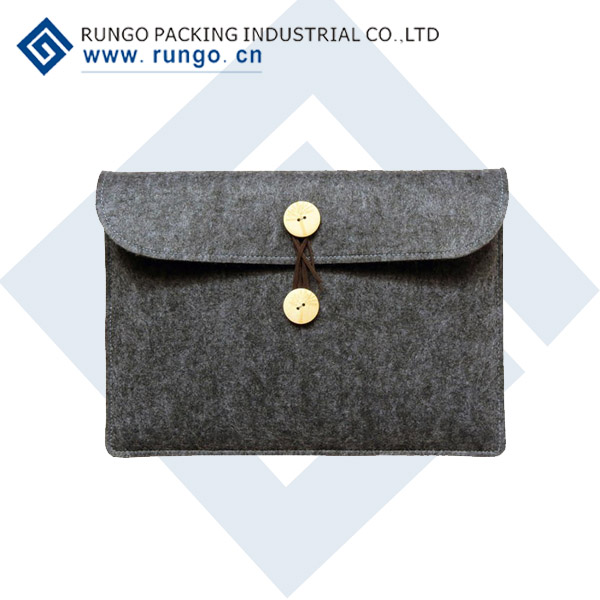 Custom Size Environment Friendly Felt Laptop Sleeve Bag For Macbook Air