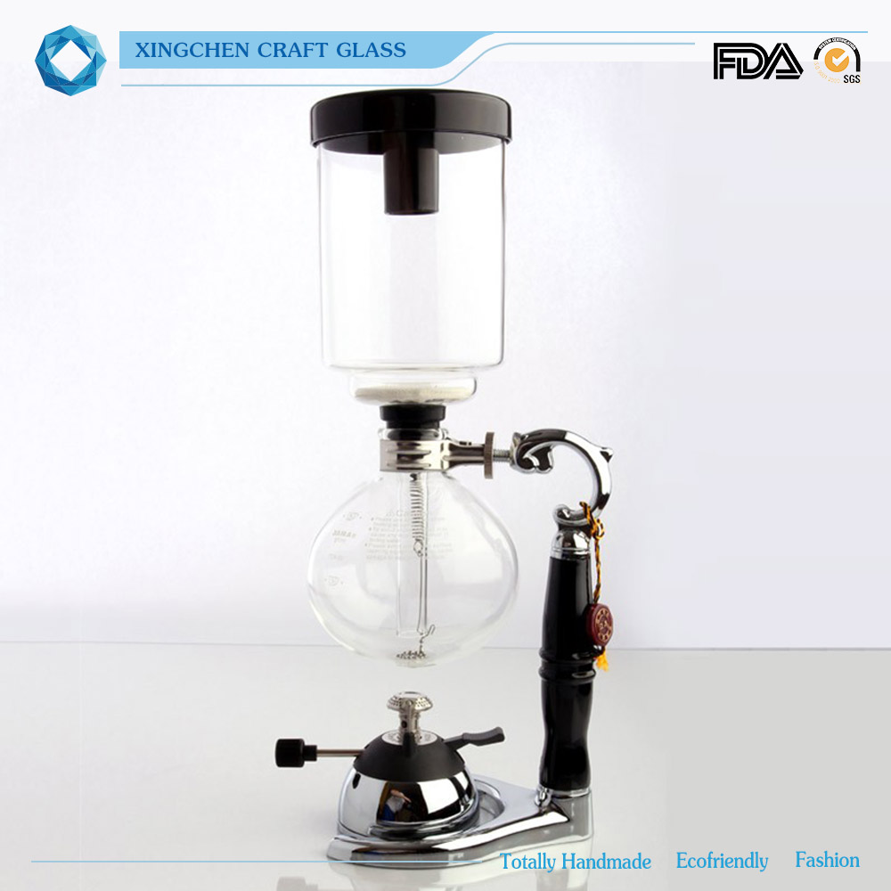 Fashionable high qulity siphon pot and share microwave coffee pot withcustom made size