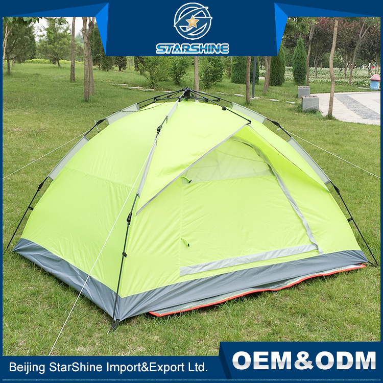 Hot sale outdoor folding single layer ultra light fiberglass tents pole automatic camping tent