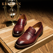 Spanish aliexpress calf loafer leather men casual shoes