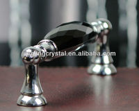 Black Furniture Handle 128mm pitch with Crystal Ornament Wholesales online