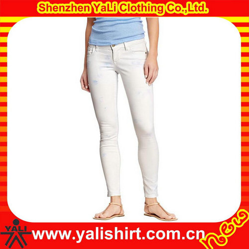 2017 New stretch pencil cut women skinny jeans, various color available