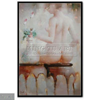 100% Handmade naked beautiful woman Body nude sexy wall art painting oils on canvas