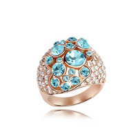 Multi-functional Intelligent Magic Rings of Austrian crystal gold ring designs for women gold couple ring