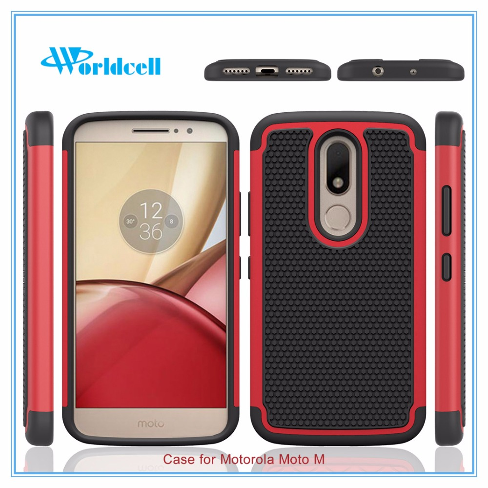 2 in 1 pc+tpu slim armor case for motorola m