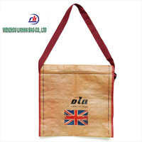 Quality unisex Fashion Non woven laptop shoulder bag sling bag
