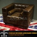 American style brown leather sofa A107-1