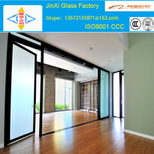 10mm office partition glass wall, large glass panels