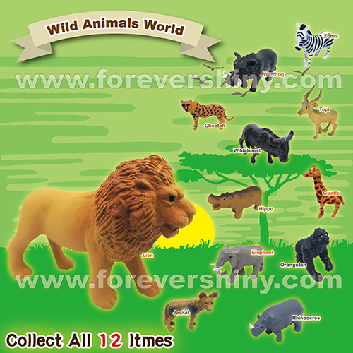 Novelty Scale Detail Small Gashapon Gift Miniature Figure Toys Collectible Plastic Wild Animals Zoo Figurine with Capsule