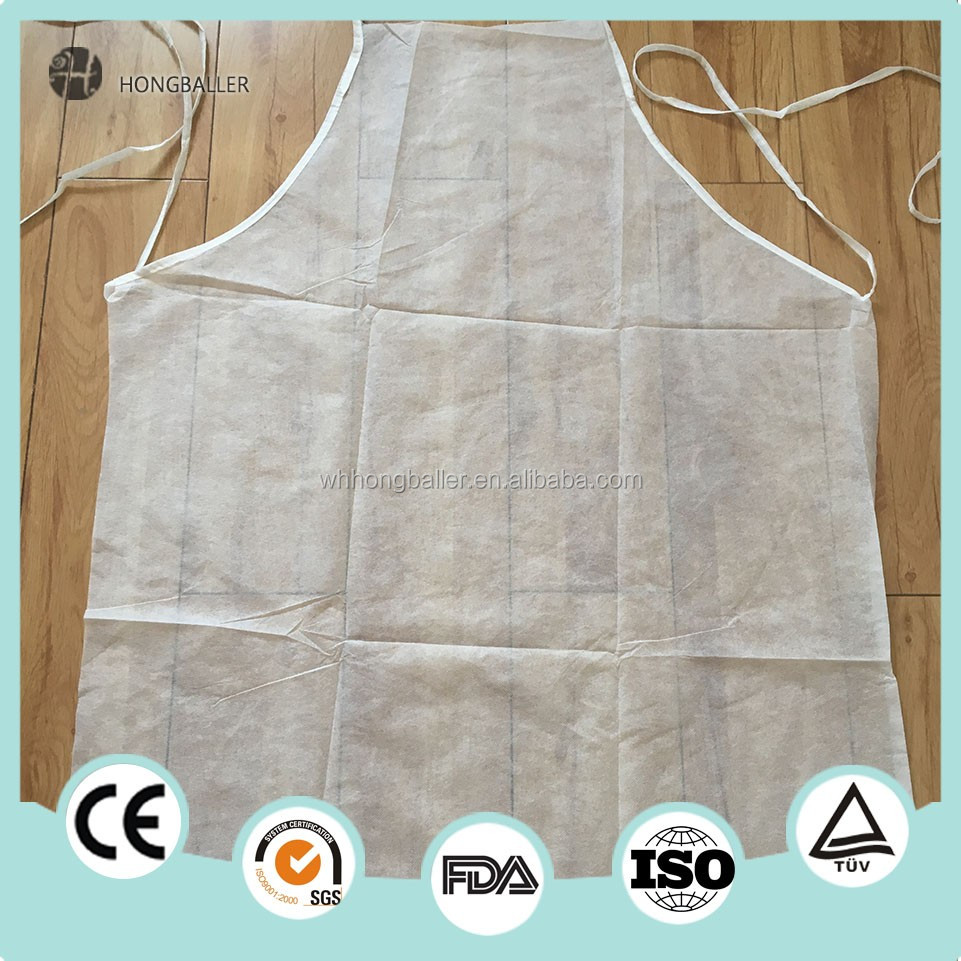 Healthcare with a disposable apron