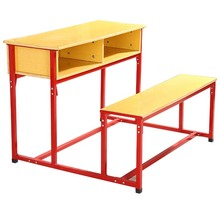 Used school desk chairs Middle east Double bench desk Popual school furniture