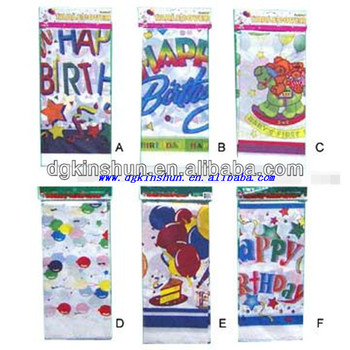 Birthday printing plastic table cover,Birthday party decorations