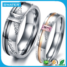 Best Selling Products In America 316L Stainless Steel Rings With Diamond